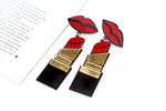 Cool & Trendy Red Lipstick Earrings