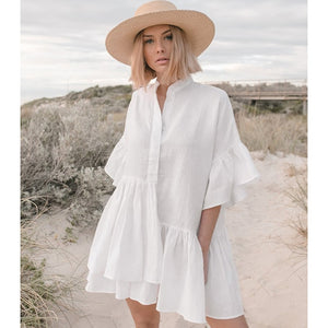 Hollow Crochet Swimsuit Beach Dress 2019