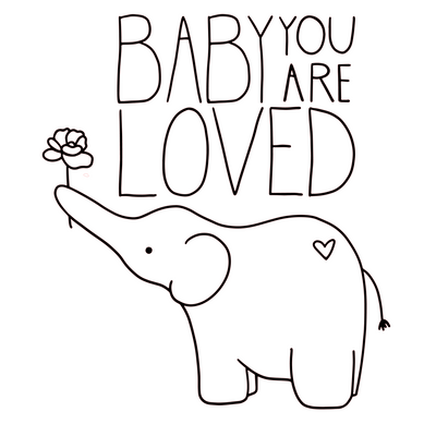 Baby You Are Loved Paint Kit