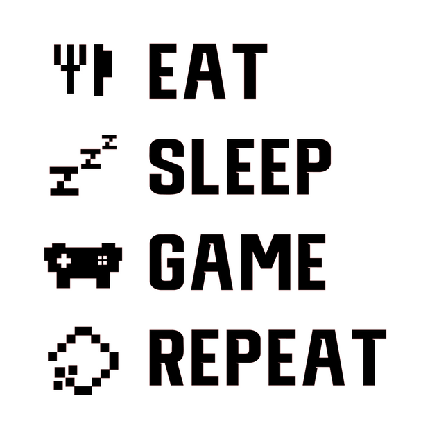 Eat, Sleep, Game, Repeat Paint Kit