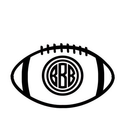 Football w/ Monogram Paint Kit