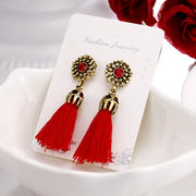 Gem Tassel Earrings