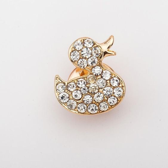Duck Rhinestone Pin