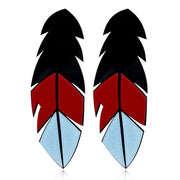 Acrylic Feather Studs