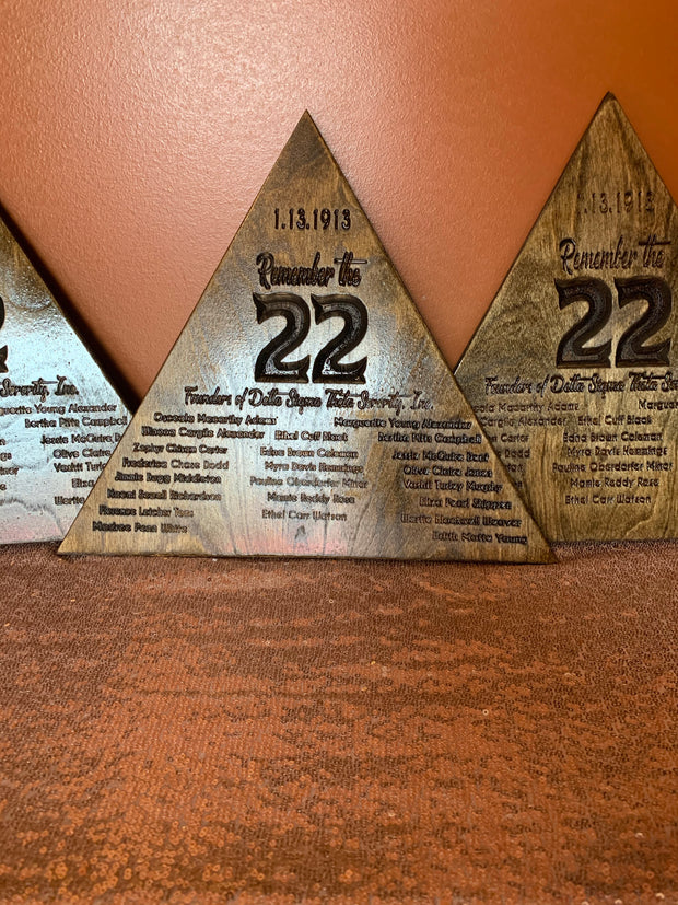 Remember The 22 Plaque