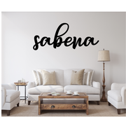SABENA FONT WOODEN SIGN