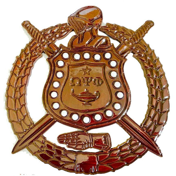12in Omega Psi Phi Fraternity Shield