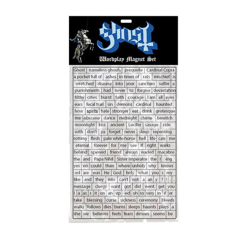 Ghost - Wordplay Magnet Set
