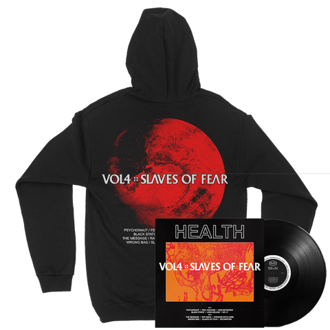 HEALTH - VOL. 4: SLAVES OF FEAR HOODIE + BLACK LP BUNDLE