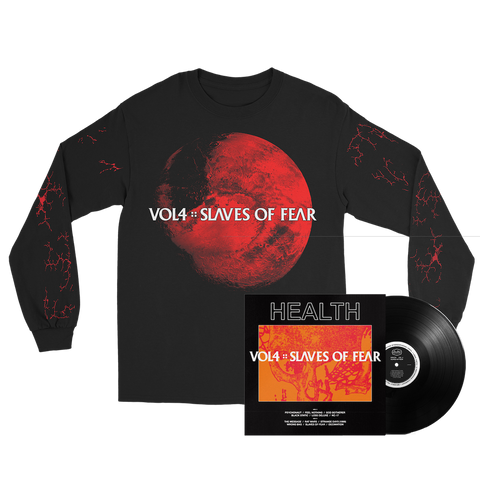 HEALTH - VOL. 4: SLAVES OF FEAR LONGSLEEVE + BLACK LP BUNDLE