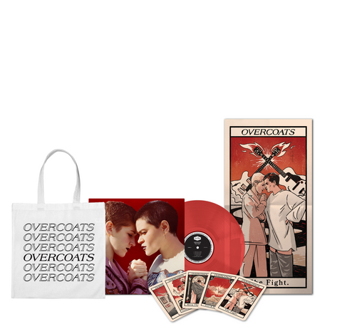 Overcoats - The Fight Red LP w/ Tarot & Tote Bundle + Digital Album