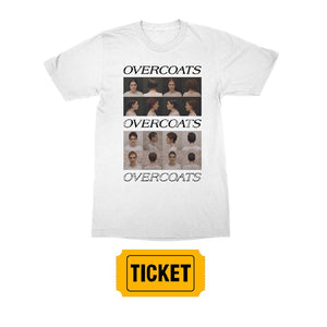 Overcoats - The Fool T-shirt + Gold Diggers Admission Ticket