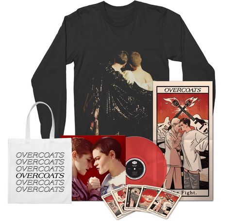 Overcoats - The Fight Red LP w/ Tarot & Longsleeve T-Shirt Bundle + Digital Album