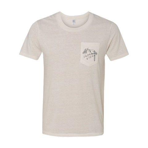 Sylvan Esso - White Parrot Pocket T-Shirt