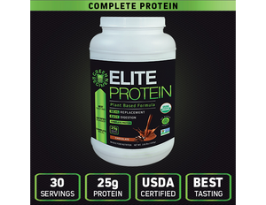 Organic Plant Based Protein   Chocolate - 30 Servings | Elite Protein by Green Regimen