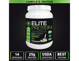 Organic Plant Based Protein   Vanilla - 14 Servings | Elite Protein by Green Regimen