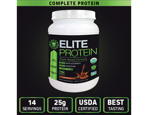 Organic Plant Based Protein   Chocolate - 14 Servings | Elite Protein by Green Regimen