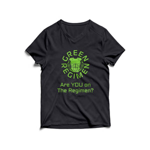 Are you on the Regimen Black V-Neck T-Shirt