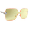 Becca Spring Swarovski® Crystals Rimless Sunglasses (Yellow)