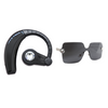 Becca Spring Set - Swarovski Crystal Bluetooth Headset and Rimless Sunglasses (Black)