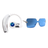 Becca Spring Set - Swarovski Crystal Bluetooth Headset and Rimless Sunglasses (Blue)