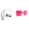 Becca Spring Set - Swarovski Crystal Bluetooth Headset and Rimless Sunglasses (Pink)