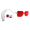 Becca Spring Set - Swarovski Crystal Bluetooth Headset and Rimless Sunglasses (Red Garnet)