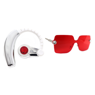 c25711ca418 Red Jewel Set - Jewel Earpiece and Jewel Sunglasses - STYLAGA