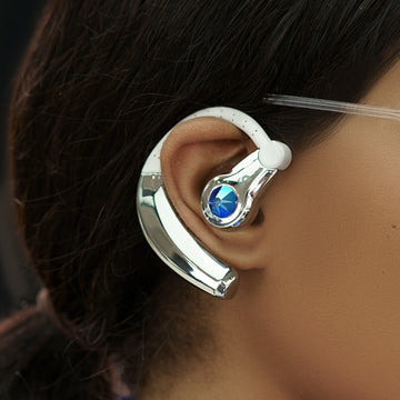 Becca Bluetooth JewelCurve Bluetooth Headset (Silver/Blue)