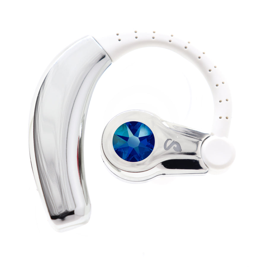 Swarovski® Becca Bluetooth JewelCurve Headset (Silver/Blue)