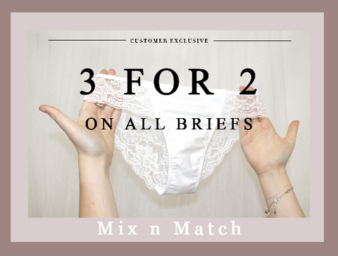 3 for 2 on all briefs at Little womenlingerie