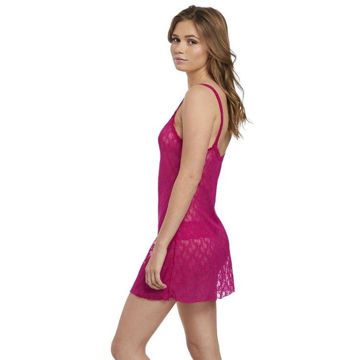 Lace Kiss Chemise - Pink Peacock