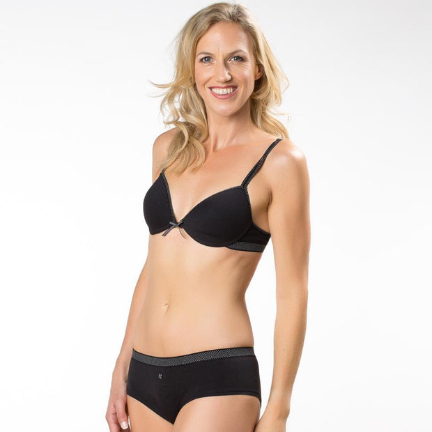 Boobs & Bloomers Anny Bra - Black - Perfect Small Bra From LittleWomen.com