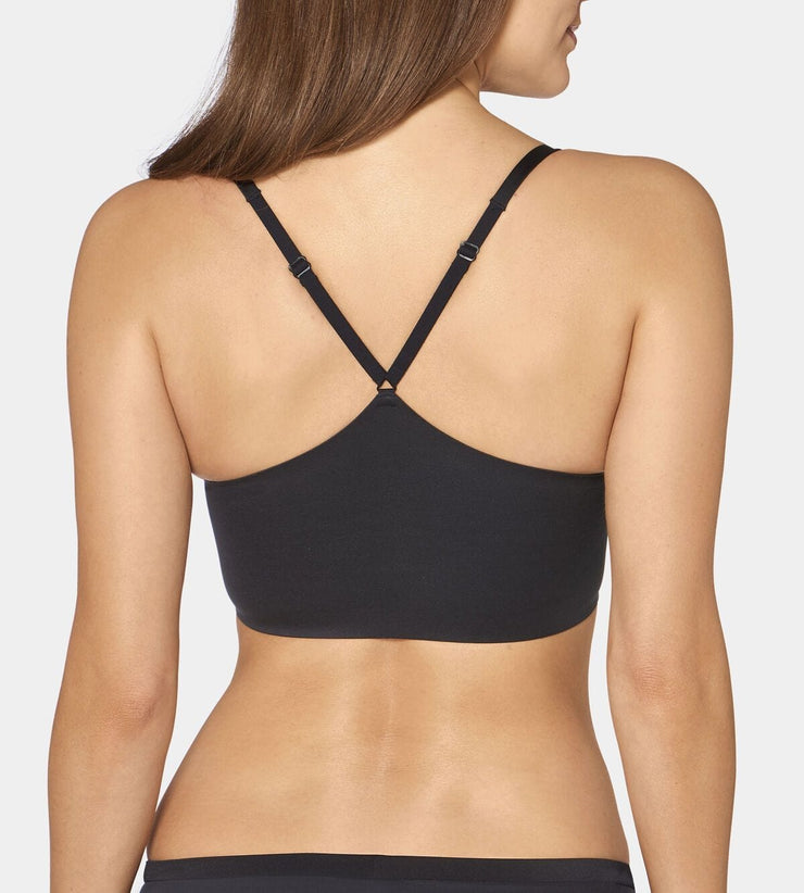 Triumph Body Make-up Soft Touch Padded T-shirt Bra - Back View Of Black Bra