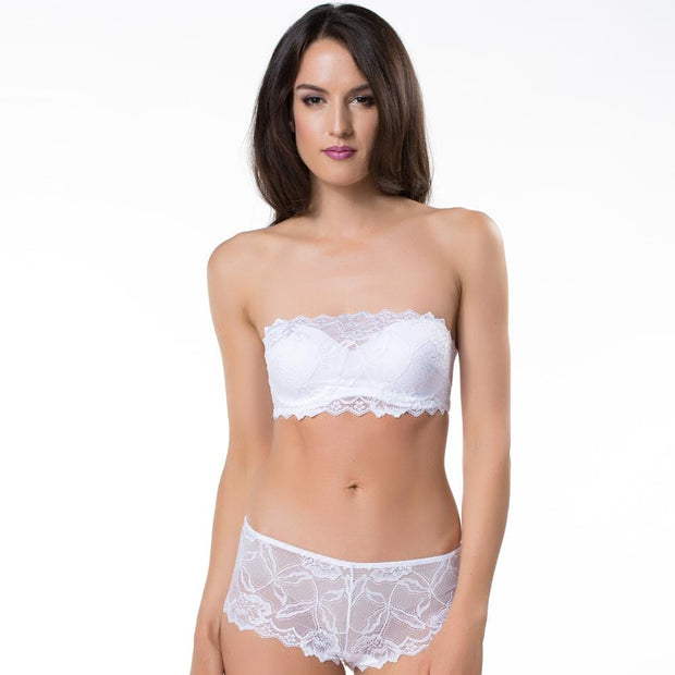Anna Bandeau Bra and Short - White