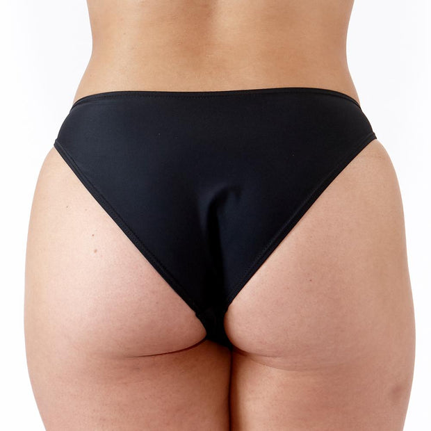 EMRLD - Coco Bikini Bottom with side ring details - back view