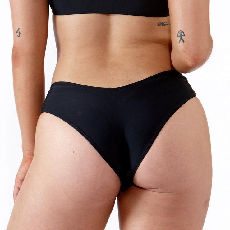 EMRLD - The Mariah Brazilian bikini bottoms in black