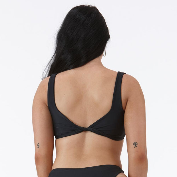 Emrld - St tropez - twist worn at the back - black small cup crop