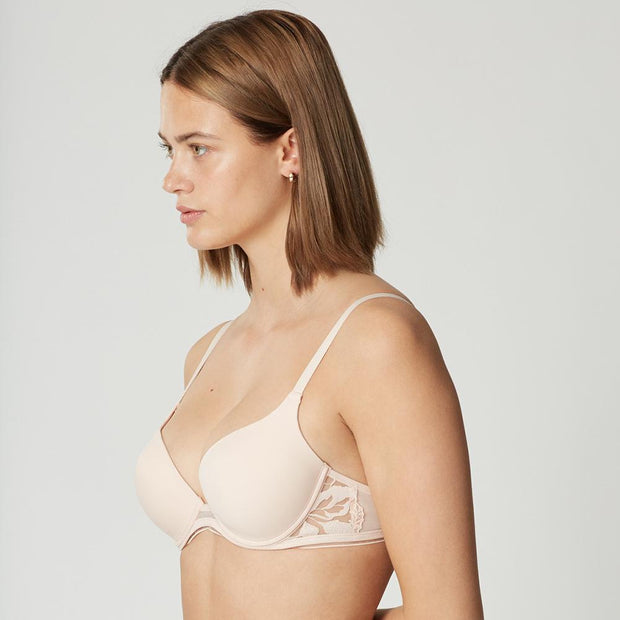 Maison Lejaby Sin Embroidered Underwired Push Up Bra - PINK