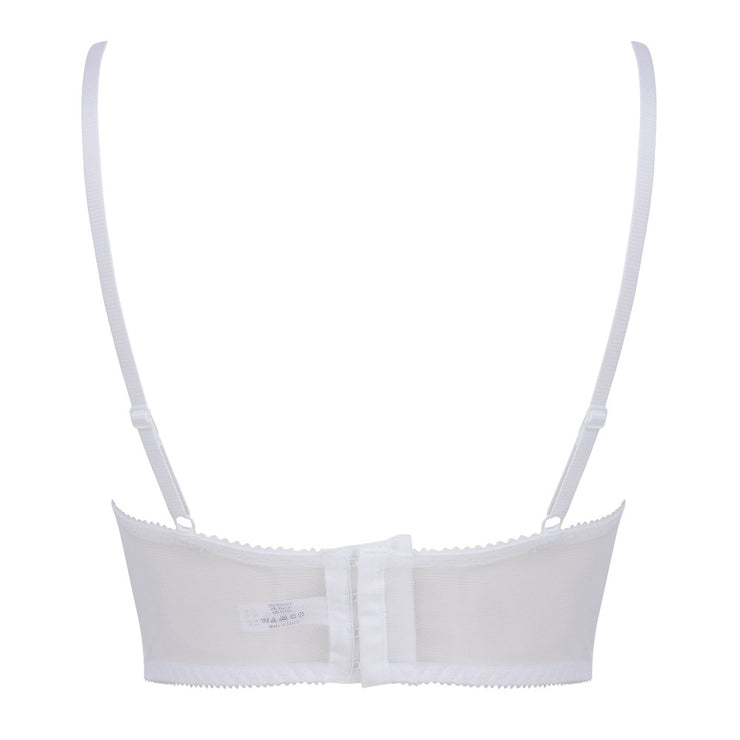 Little Women PERFECTLY YOU LONGLINE Non-Wired Bra White Back