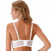 Roxy Bra White Back - Small Medium Padded Bras From Little Women