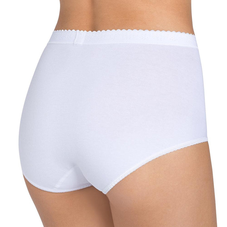sloggi Control Maxi Brief 2 Pack - White Back