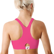 Sportjock Sports Bra - Fuchsia Back View
