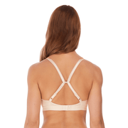 Wacoal Embrace Lace Soft Cup Bra in coral and white - cross back