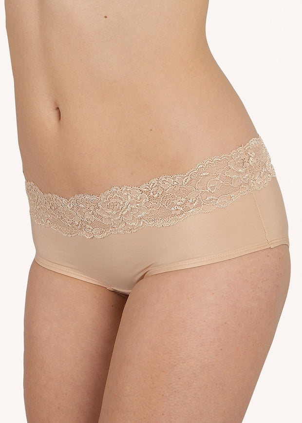 After Eden Boxer In Powder (neutral) Beautiful Petite Lingerie