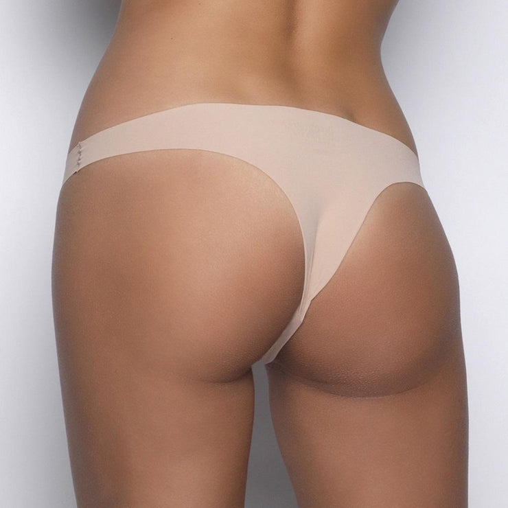 After Eden Seamless String - Nude (Powder) Back view