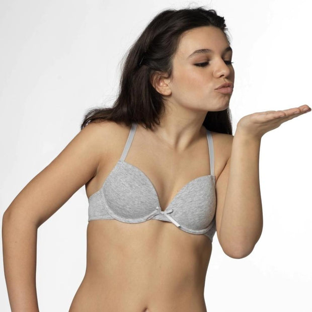 Boobs & Bloomers Anny Flex Wire Bra In Grey- Small Bras From Little Women