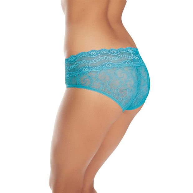B.Tempt'd Lace Kiss Hipster Brief - Barrier Reef