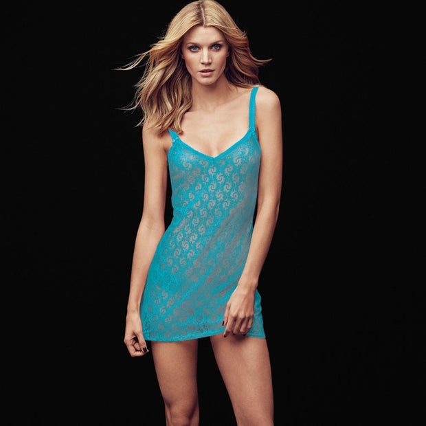 Lace Kiss Chemise - Peacock Blue