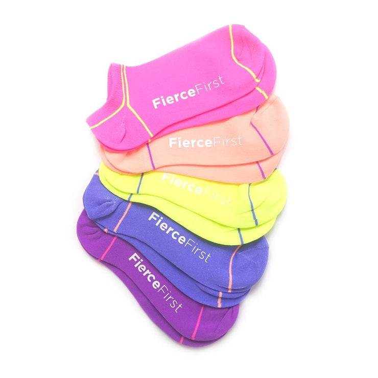 5 Pack Neon trainer sock